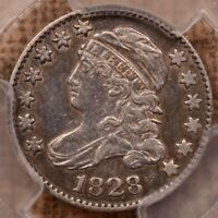 1828 JR 2 LARGE DATE CAPPED BUST DIME PCGS XF40 VERY TOUGH
