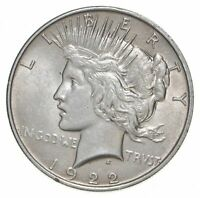 1  AU $1 1922 PEACE SILVER DOLLARS DRIPPING W LUSTER ALMOST UNC 90  BULK & SAVE