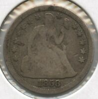 1858 SEATED LIBERTY DIME - PHILADELPHIA MINT BD154