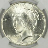1  1923 PEACE SILVER DOLLAR UNCIRCULATED BU CONDITION   FROM ROLL