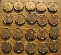 TWENTY HIGH GRADE WHEAT CENTS INCLUDING 3 BU 1937 & 2 BU 1937 S RED COINS