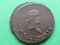 COLUMBIA   EARLY 1800S   ERROR MINT MISS CUT  COIN UNC