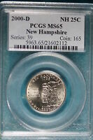 2000 D PCGS MS65 NEW HAMPSHIRE STATEHOOD QUARTER   B7803
