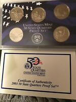 2003 S STATE QUARTER PROOF SET FIVE DEEP CAMEOS IN MINT HOLD
