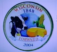 SET OF P AND D COLORIZED STATE QUARTERS WISCONSIN 2004
