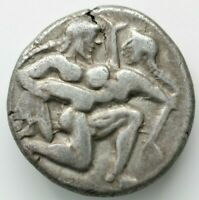 GREEK ISLANDS OFF THRACE. THASOS 520 510 BC. STATER AR 8.76G