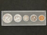 1954 UNITED STATES  MINT 90  SILVER 5 COINS IN HARD CASE PRO
