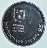 SILVER   WORLD COIN   1976 ISRAEL 25 LIROT   WORLD SILVER CO