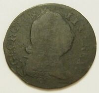 1781 GEORGE III IRISH HALF PENNY DOUBLE STRUCK NON REGAL 4.9
