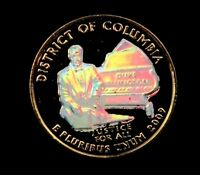 2009 D DISTRICT OF COLUMBIA QUARTER // 24K GOLD PLATED   HOL