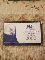 2000 U.S. MINT STATE  QUARTERS  PROOF SET