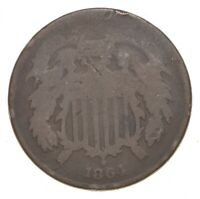 1864 TWO CENT PIECE   CHARLES COIN COLLECTION  671