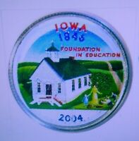 SET OF P AND D COLORIZED STATE QUARTERS IOWA  2004