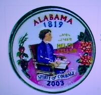SET OF P AND D COLORIZED STATE QUARTERS ALABAMA 2003