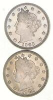 LOT 2 1901 & 1903 LIBERTY V NICKELS 2729