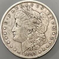 1893 P MORGAN SILVER DOLLAR VF/EXTRA FINE  DETAILS COIN SEMI KEY DATE 378,000 MINTED
