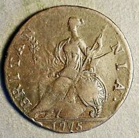 AUTHENTIC AMERICAN REVOLUTIONARY WAR COIN 1775 1ST YEAR O