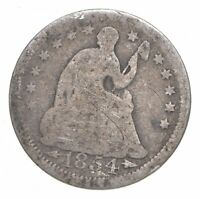 1854 SEATED LIBERTY HALF DIME   CHARLES COIN COLLECTION  822
