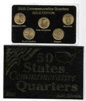2000 USA STATE QUARTER GOLD EDITION