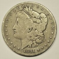 1881-O MORGAN SILVER DOLLAR AN HONEST UNGRADED COIN WITH FREE U.S. SHIPPING