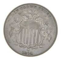 1874 SHIELD NICKEL 4759