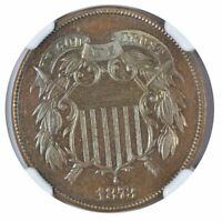 1873 TWO CENT PIECE, CLOSED 3, NGC PF65BN CAC