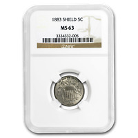1883 SHIELD NICKEL MINT STATE 63 NGC - SKU197545