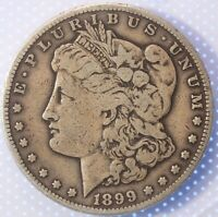 1899 S MORGAN DOLLAR, LY CIRCULATED, SEMI-KEY DATE, BEAUTIFUL OLDE COIN