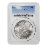 CERTIFIED MORGAN SILVER DOLLAR 1889-S MINT STATE 61 PCGS