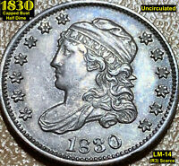 1830 CAPPED BUST HALF DIME LM-14 R3  UNCIRCULATED