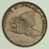 1857 FLYING EAGLE CENT - CLASHED 8107