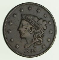 1839/36 YOUNG HEAD LARGE CENT - CIRCULATED 4183