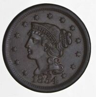 1854 BRAIDED HAIR LARGE CENT 4432