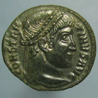 HIGH GRADE PARTIALLY SILVERED CONSTANTINE I VOT / XX AE 3 FROM THESSALONICA