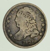 1836 CAPPED BUST DIME - CIRCULTED 8617