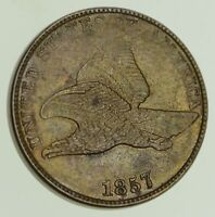 1857 FLYING EAGLE CENT - NEAR UNCIRCULATED 8114