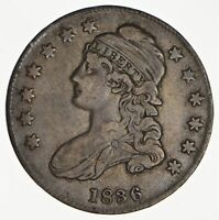 1836 CAPPED BUST HALF DOLLAR - CIRCULATED 0122