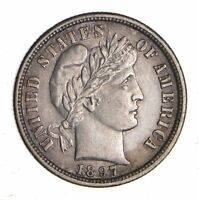 1897-S BARBER DIME - NEAR UNCIRCULATED 1245