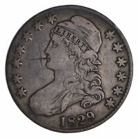 1829 CAPPED BUST HALF DOLLAR - CIRCULATED 9068