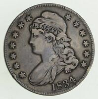 1834 CAPPED BUST HALF DOLLAR - CIRCULATED 9448