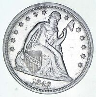 1842 SEATED LIBERTY SILVER DOLLAR - CHOICE 9595