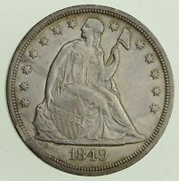 1849 SEATED LIBERTY SILVER DOLLAR - NEAR UNCIRCULATED 8190