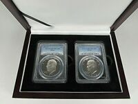 1971 AND 1972 S 2-COIN SET  SILVER EISENHOWER DOLLARS PCGS PF 70 DCAM  COINS