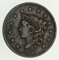 1837 YOUNG HEAD LARGE CENT - CIRCULATED 9422
