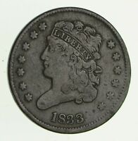 1833 CLASSIC HEAD HALF CENT - CIRCULATED 2810