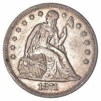 1871 LIBERTY SEATED SILVER DOLLAR 8097