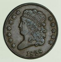 1828 CLASSIC HEAD HALF CENT - CIRCULATED 5622