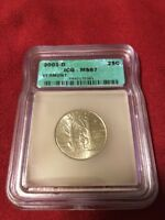2001   D  GRADED MS67   VERMONT STATE QUARTER   GREAT COLLEC