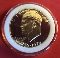 1976 S EISENHOWER DOLLAR CAMEO PROOF 40  SILVER IMPERFECT DISCOUNTED IKE