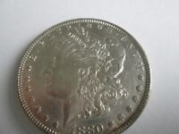 1880-P VAM 39A CLASHED E MORGAN SILVER DOLLAR